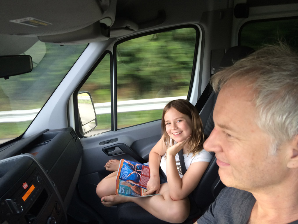 Father & Daughter, road-trippin'